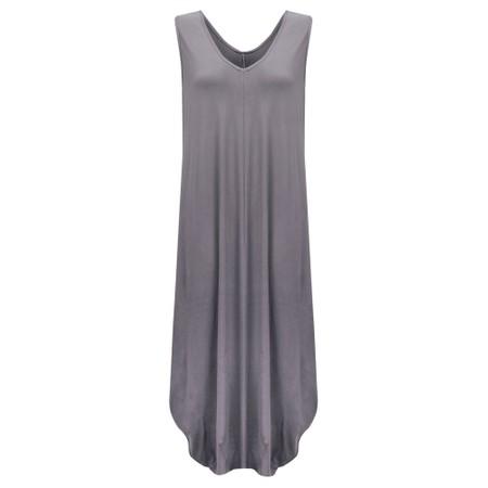 Gemini Label Clothing Iman Balloon Sleeveless Dress - Black