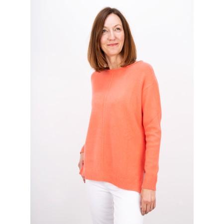 Amazing Woman  Maggie Seam Front Supersoft Jumper - Orange