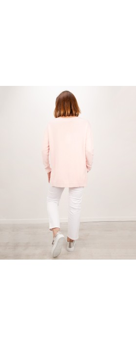Amazing Woman Maggie Seam Front Supersoft Jumper Pale Pink