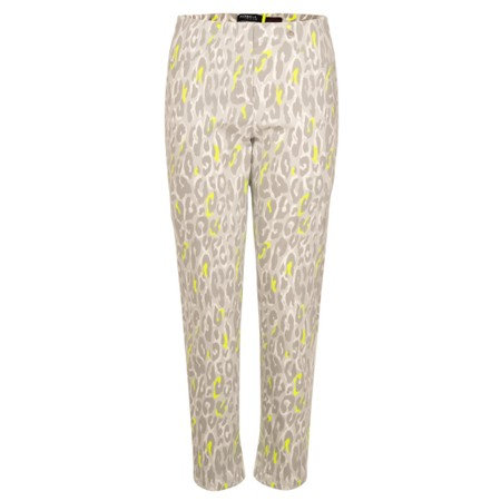 Robell  Bella 09 7/8 Neon Animal Print Cropped Trousers - Multicoloured