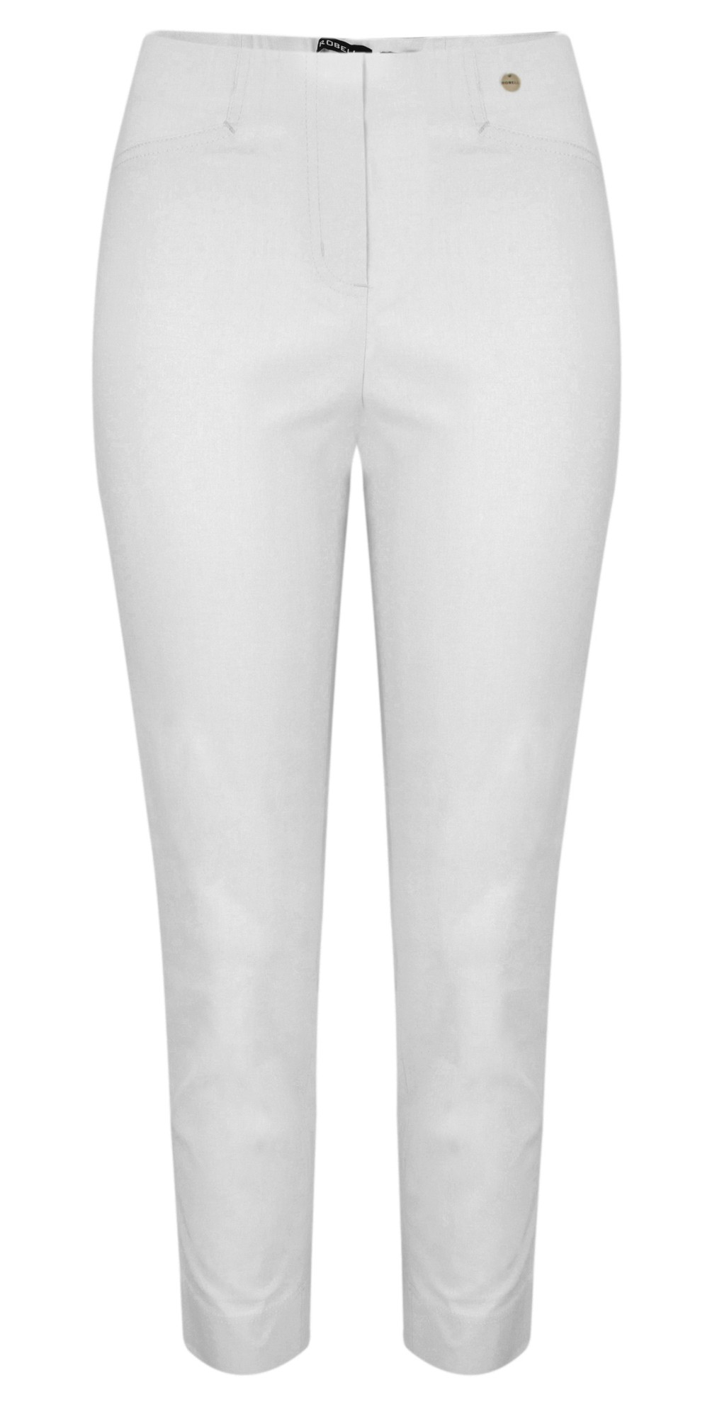 Lena Light Grey Ankle Detail Cropped Trouser main image