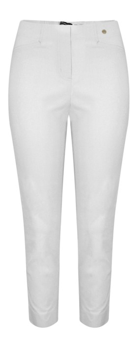 Robell Lena Light Grey Ankle Detail Cropped Trouser Light Grey 92