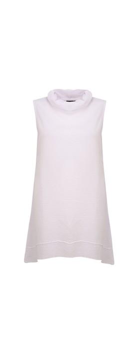 Focus Cowl Neck A-Line Top White
