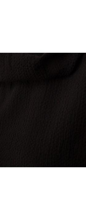 Focus Cowl Neck A-Line Top Black