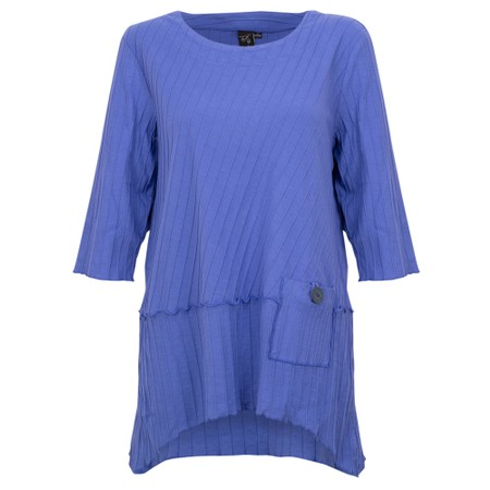Focus 3/4 Sleeve Pocket Tunic - Blue