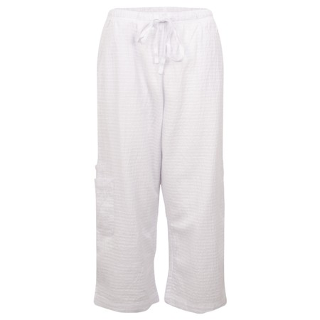 Focus 3/4 Wide Leg Trouser - White