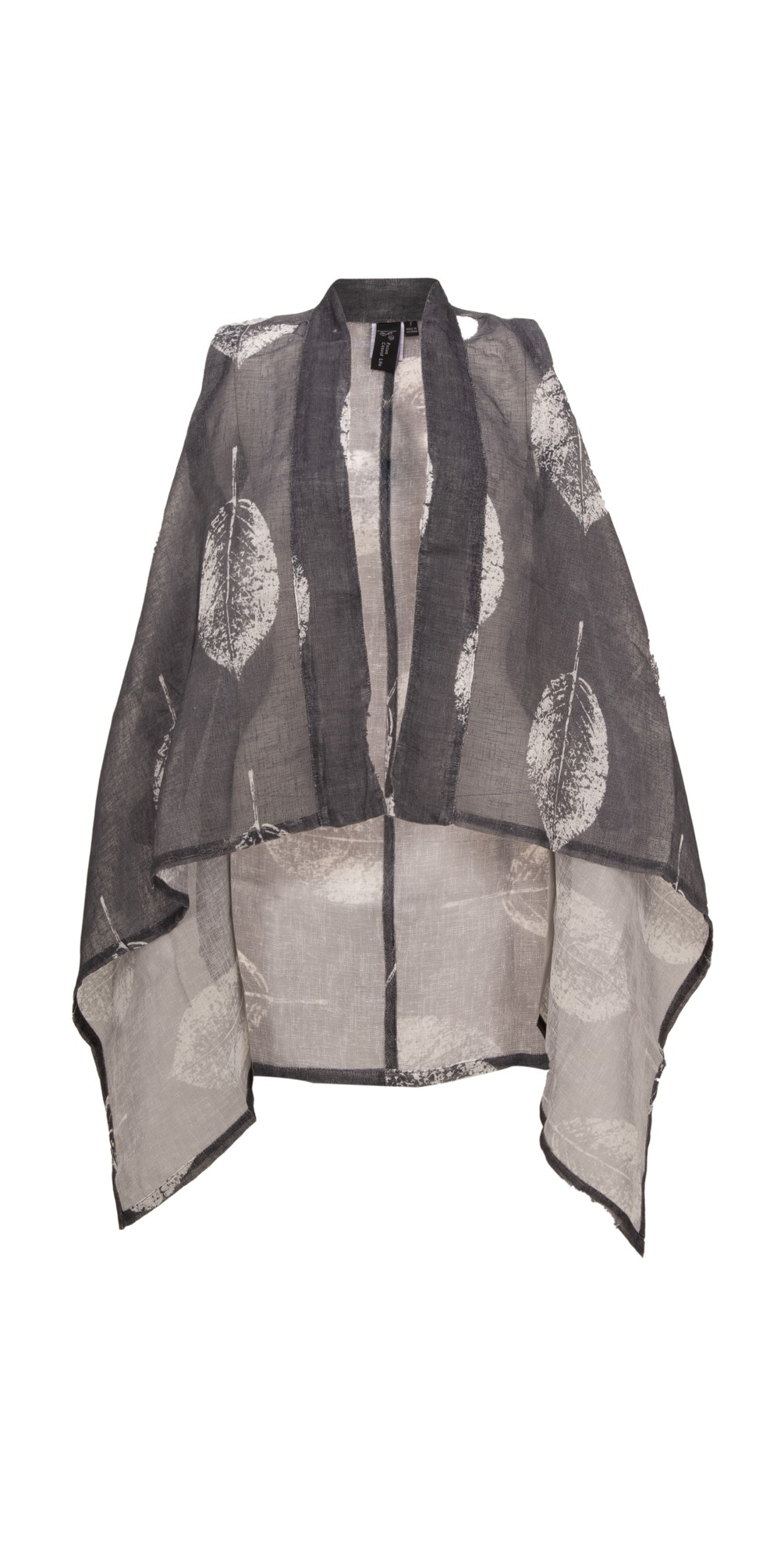 Leaf Print Draped Waistcoat main image