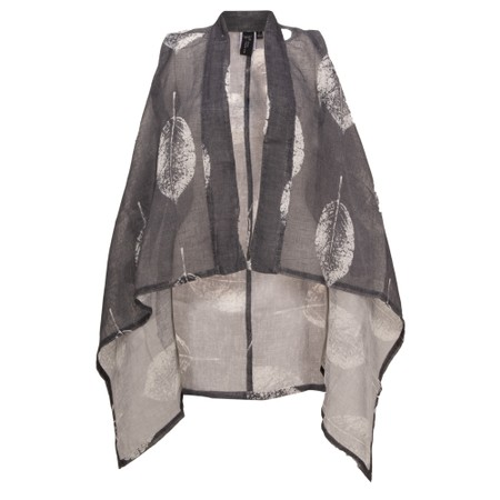 Focus Leaf Print Draped Waistcoat - Multicoloured