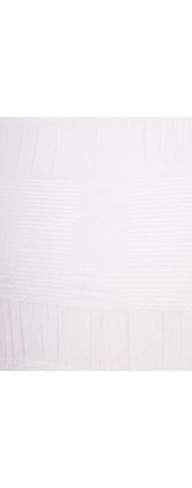 Focus Textured Sleeveless Top White