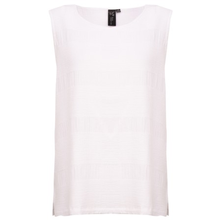 Focus Textured Sleeveless Top - White