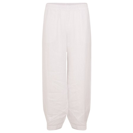 Focus Linen Trouser - White