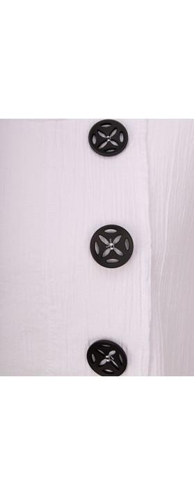 Focus Three Button Tunic White