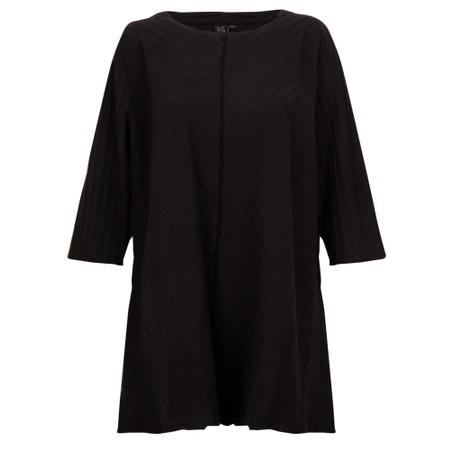 Focus 3/4 Sleeve A-Line Tunic - Black