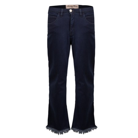 Amazing Woman 07 Fray Crop Bootleg Jean - Blue