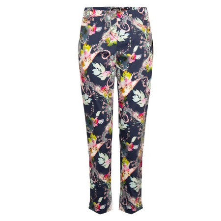 Robell  Bella 09 7/8 Paisley Floral Cropped Trousers - Multicoloured