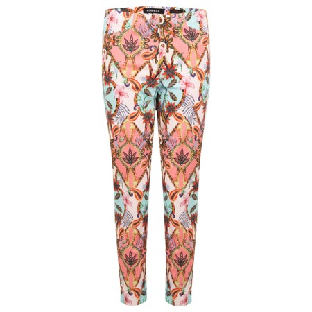 Robell  Rose 09 7/8 Super Slim Fit Printed Trousers - Multicoloured