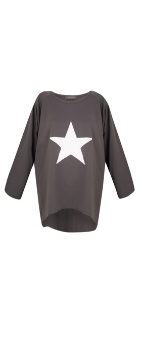 Chalk Robyn Star Top Charcoal / White