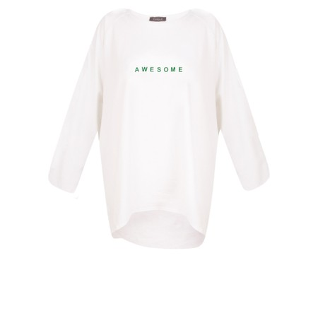 Chalk Robyn Bright Awesome Top - White