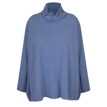 Fenella  Nina Supersoft Roll Neck Jumper  - Blue