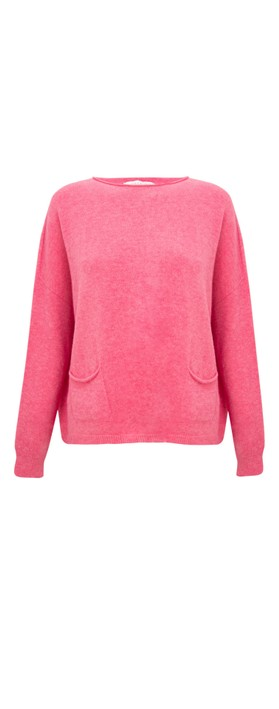 Amazing Woman Jodie Front Pocket Supersoft Knit Jumper Azalea Pink