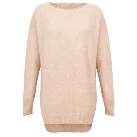 Amazing Woman  Maggie Seam Front Supersoft Jumper - Beige