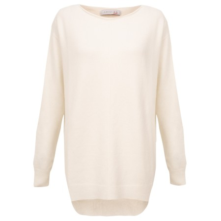 Amazing Woman  Maggie Seam Front Supersoft Jumper - Off-White