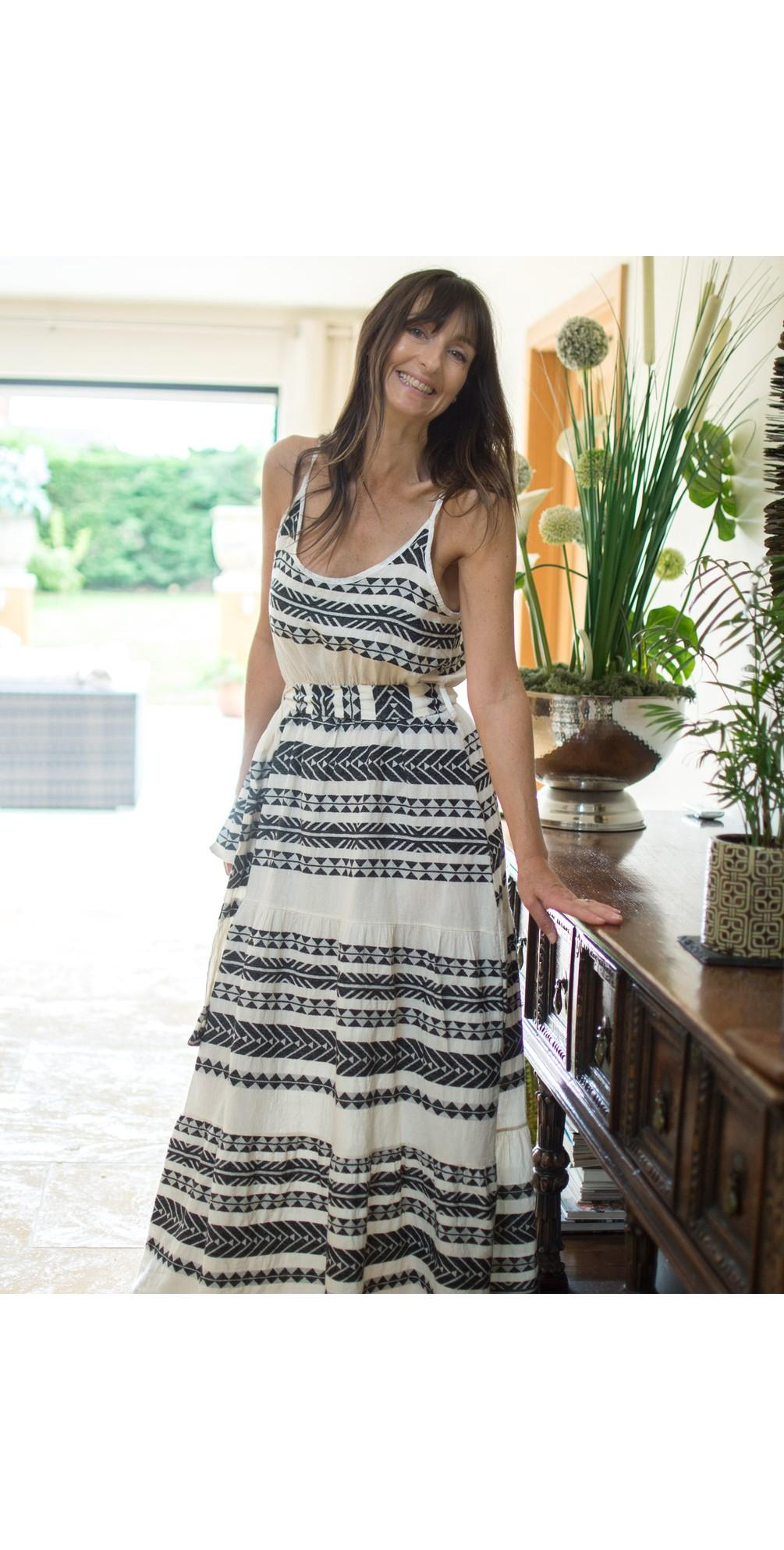 Alaia Greek Style Strappy Maxi Dress main image