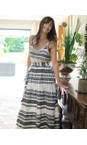 TOC Black  Alaia Greek Style Strappy Maxi Dress