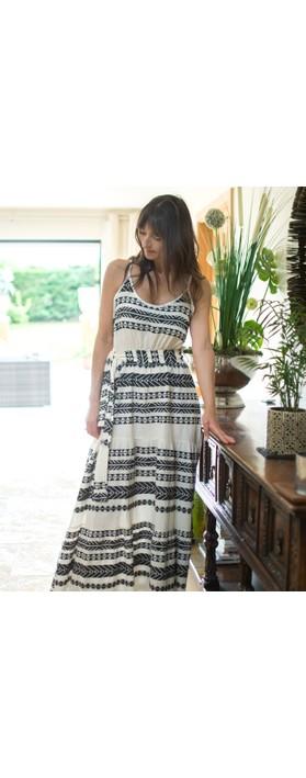 TOC Alaia Greek Style Strappy Maxi Dress Black