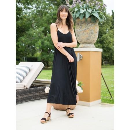 Gemini Label Clothing Zadie Maxi Strap Dress - Black