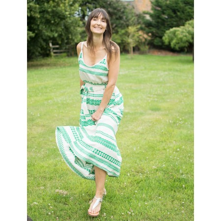 TOC  Alaia Greek Style Strappy Maxi Dress - Green