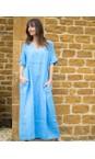 Amazing Woman Blue Tesa Maxi Linen Dress