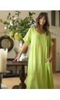 Amazing Woman Lime Tesa Maxi Linen Dress