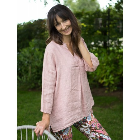 Amazing Woman  Lydia Linen Top - Pink