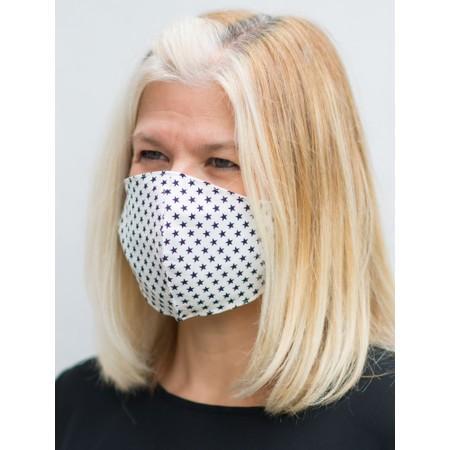 Butterfly Hudie Stars Face mask - White