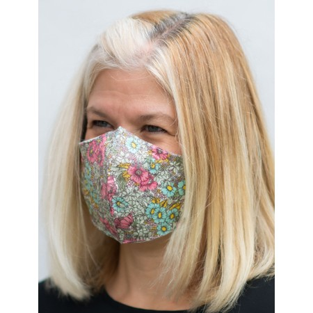 Butterfly Hudie Floral Face mask  - Pink
