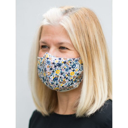 Butterfly Hudie Floral Face mask  - Blue