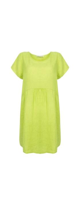 Amazing Woman Lexia Linen Dress  Lime