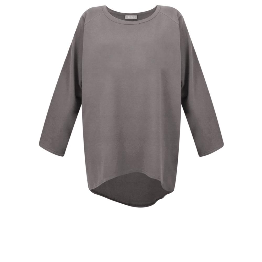 Chalk Robyn Plain Jersey Top Charcoal