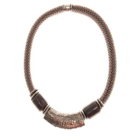 Strata Capricorn Short Necklace - Metallic
