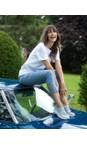 Robell Denim Blue 62 Lena Denim Blue Ankle Detail Cropped Trouser
