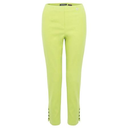 Robell  Lena Ankle Detail Trouser - Green