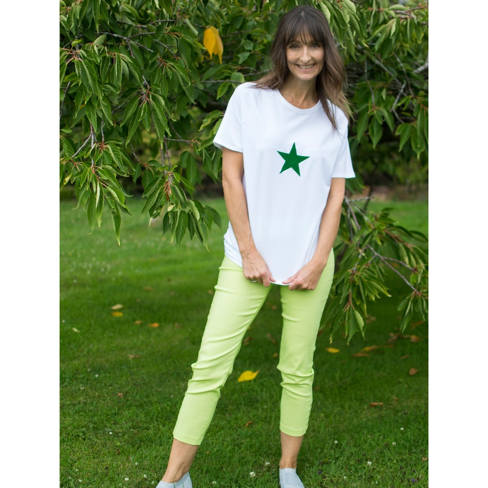 Robell Lena Lime Ankle Detail Cropped Trouser Lime 810