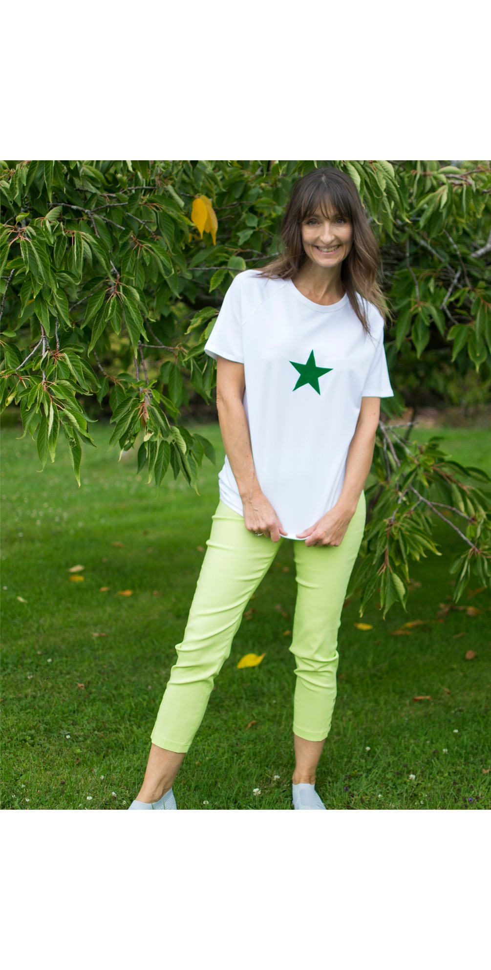 Lena Lime Ankle Detail Cropped Trouser main image