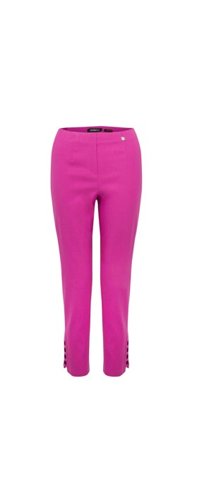 Robell Lena Magenta Ankle Detail Cropped Trouser Magenta 550