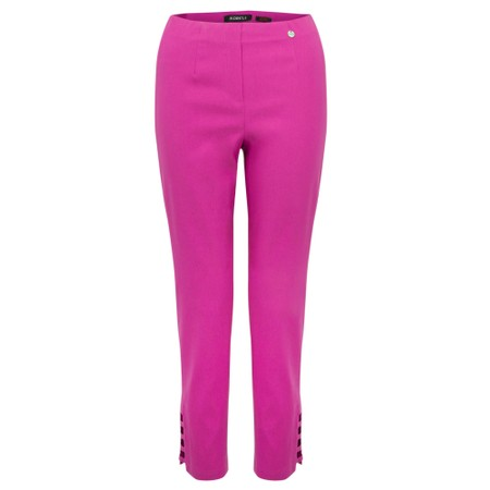 Robell Lena Magenta Ankle Detail Cropped Trouser - Pink