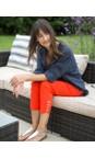 Robell Orange 321 Lena Orange Ankle Detail Cropped Trouser