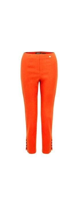 Robell Lena Orange Ankle Detail Cropped Trouser Orange 321
