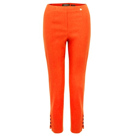Robell Lena Orange Ankle Detail Cropped Trouser - Orange