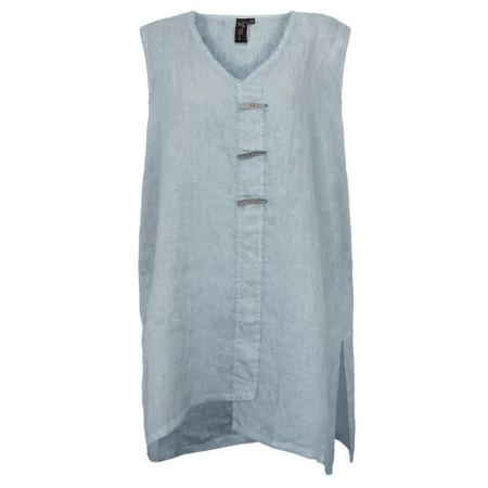 Focus Longline Linen Tunic - Blue